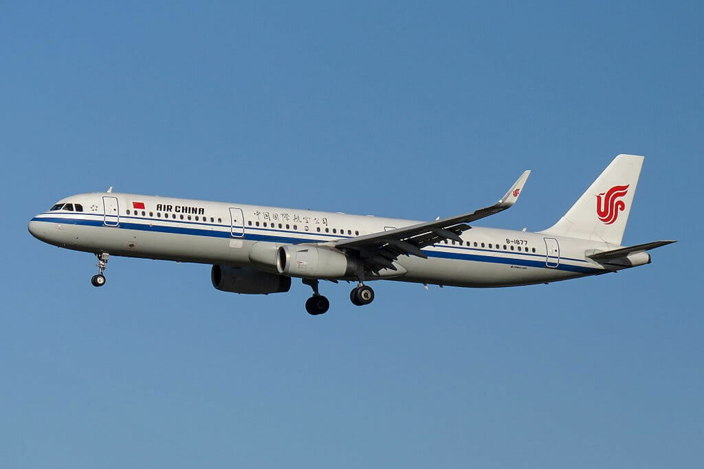 B 1877 Airbus A321 232WL Air China at Beijing Capital International Airport