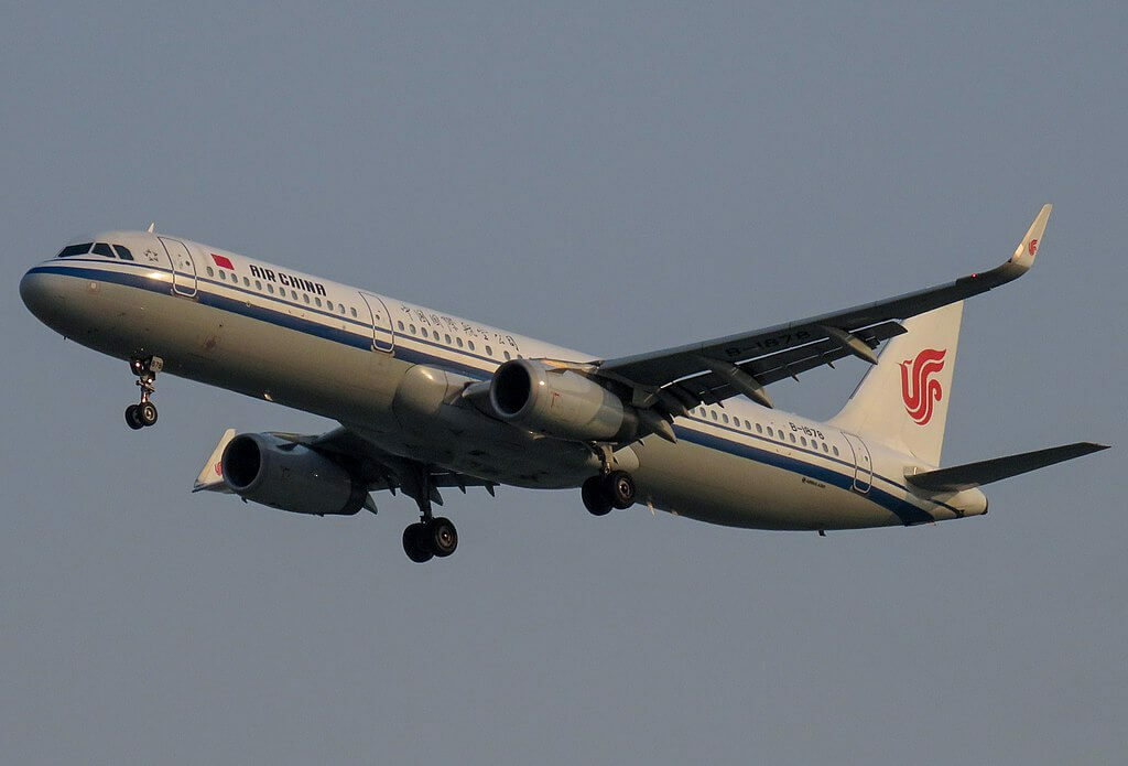 B 1878 Airbus A321 232WL Air China at Beijing Capital International Airport