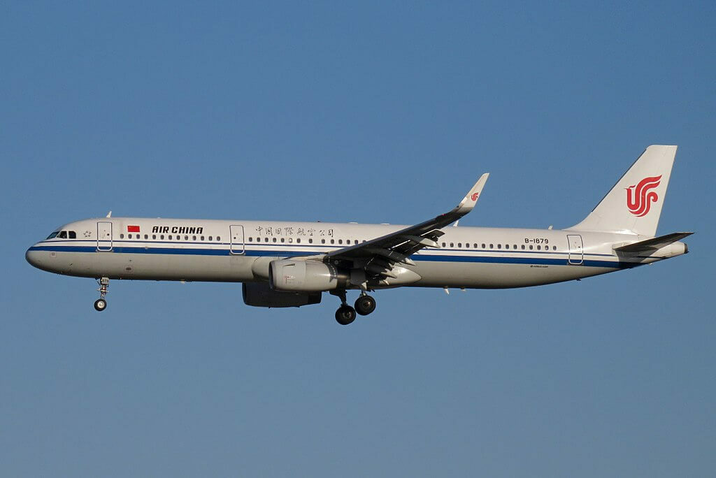 B 1879 Airbus A321 232WL Air China at Beijing Capital International Airport