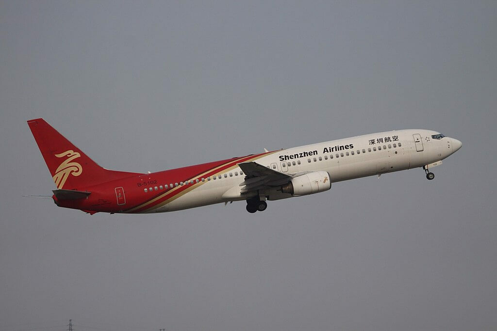 B 5102 Boeing 737 97L Shenzhen Airlines at Shenzhen Baoan International Airport