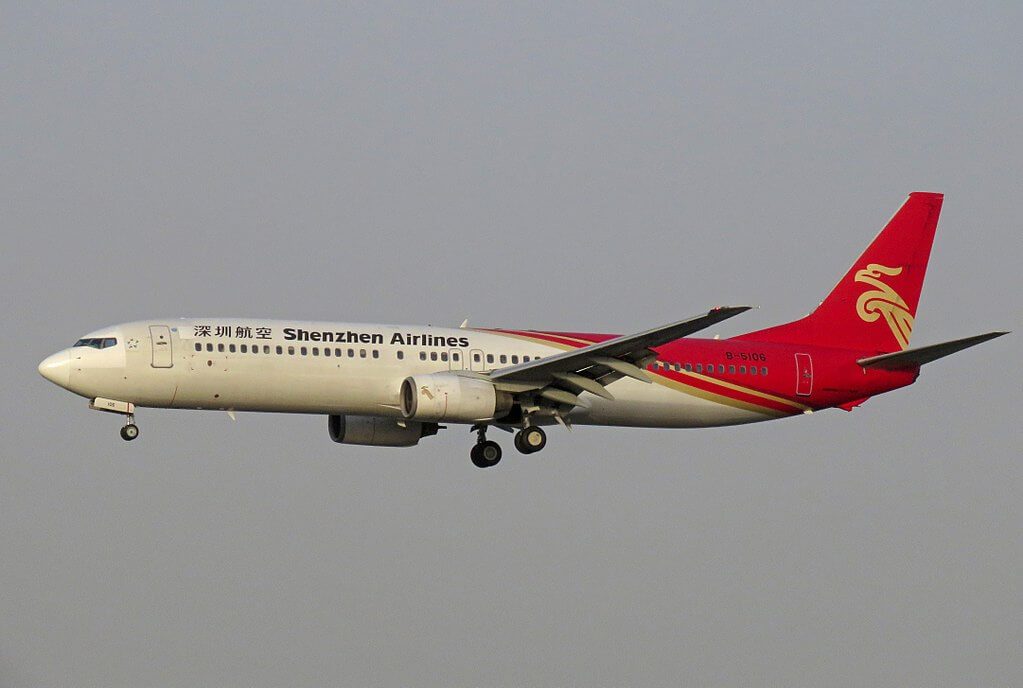 B 5106 Boeing 737 97L Shenzhen Airlines at Beijing Capital International Airport