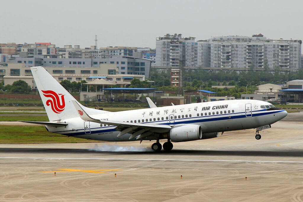 B 5213 Boeing 737 79LWL Air China at Chongqing Jiangbei International Airport