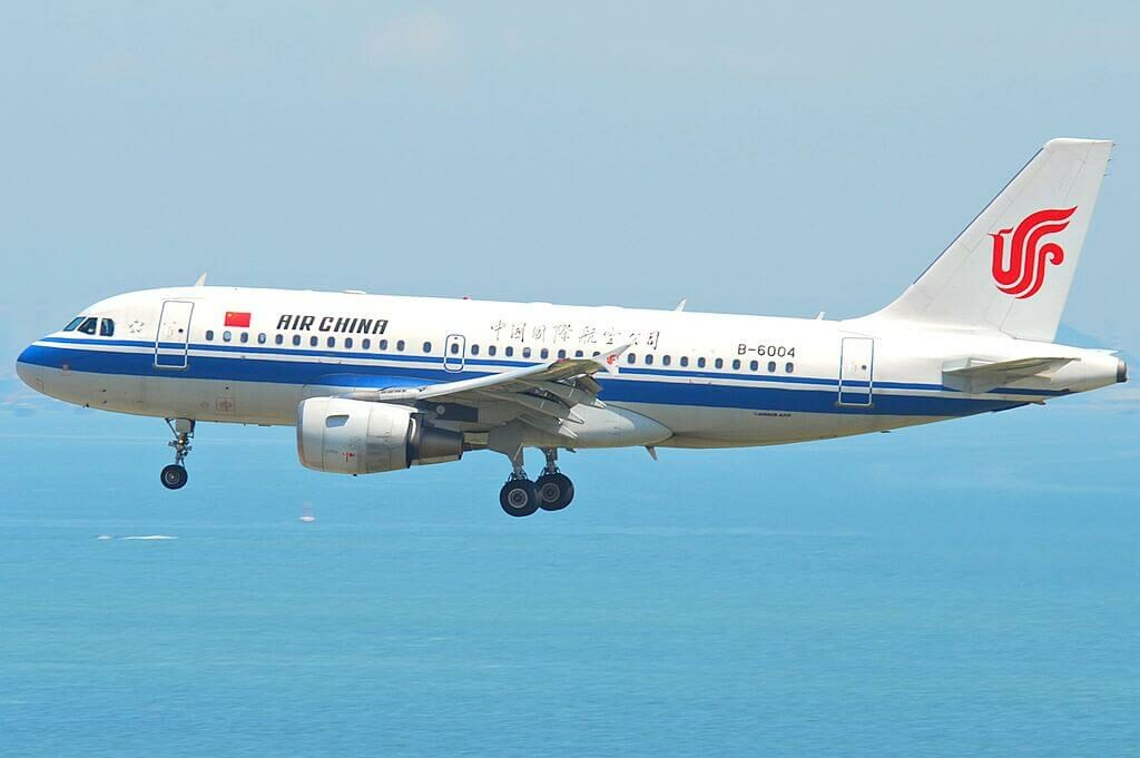 B 6004 Air China Airbus A319 115 at Hong Kong International Airport