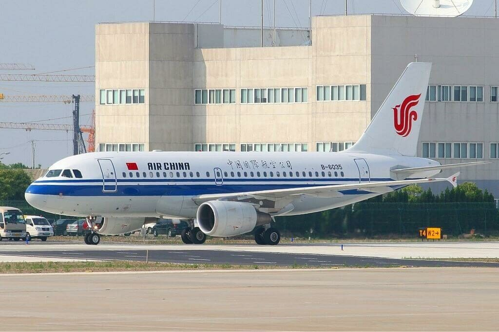 B 6035 Airbus A319 115 Air China at Shanghai Pudong International Airport
