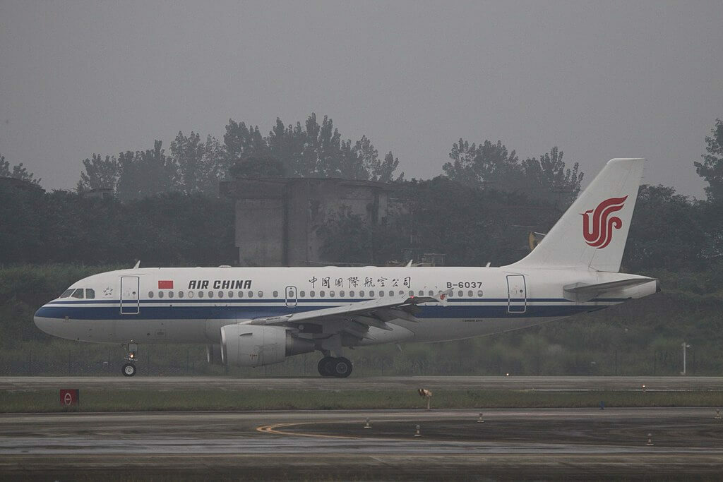 B 6037 Airbus A319 115 Air China at Chengdu Shuangliu International Airport