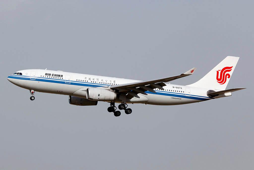 B 6072 Airbus A330 243 Air China at Beijing Capital International Airport