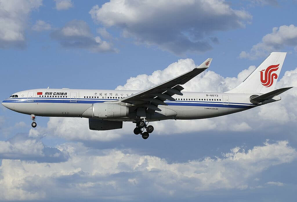 B 6073 Airbus A330 243 Air China at Fiumicino Airport