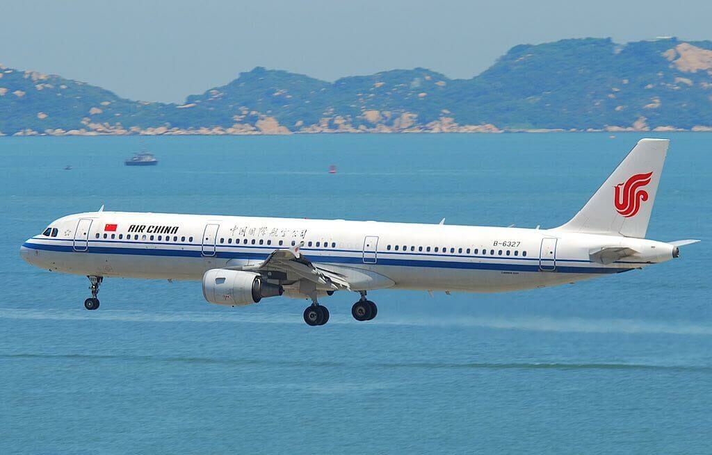 B 6327 Airbus A321 213 Air China at Hong Kong International Airport