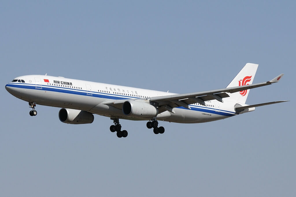 B 6523 Airbus A330 343 Air China at Beijing Capital International Airport