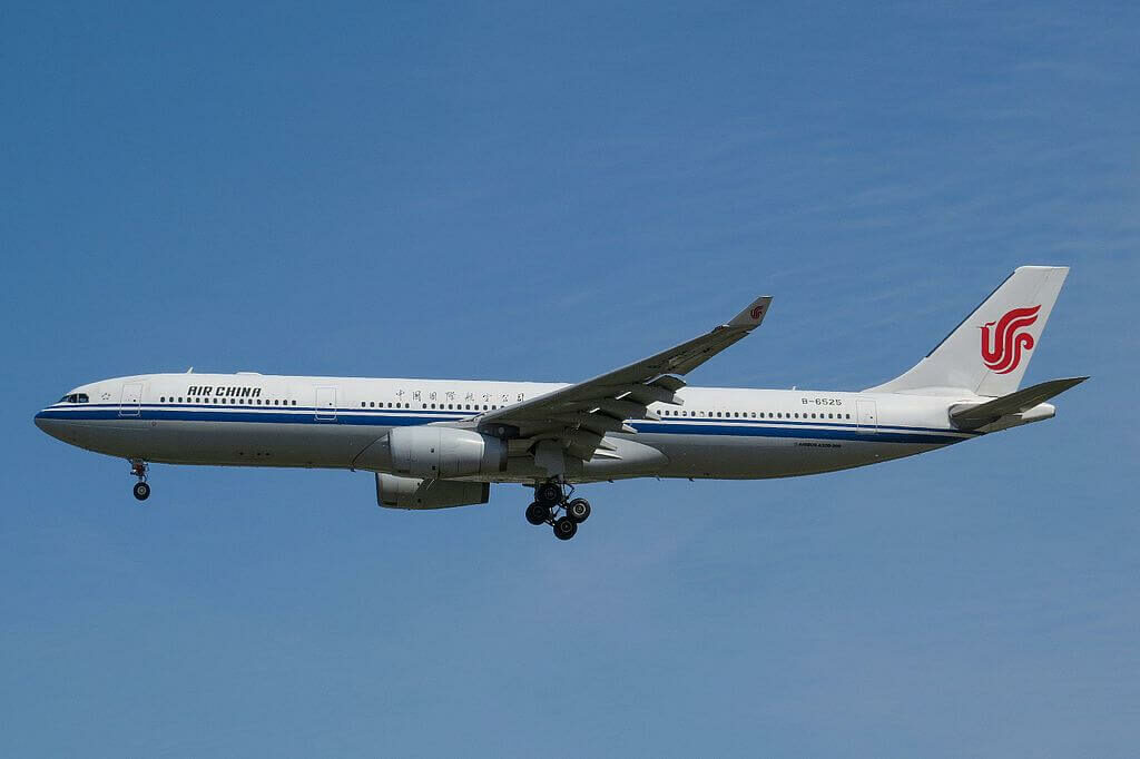B 6525 Airbus A330 343 Air China at Beijing Capital International Airport