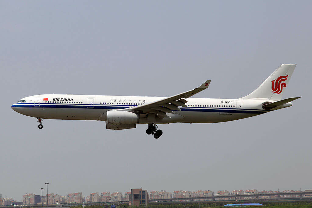 B 6530 Airbus A330 343 Air China at Shanghai Hongqiao International Airport