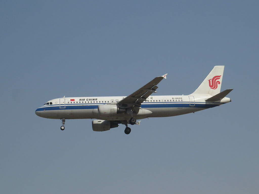 B 6609 Airbus A320 214 Air China at Beijing Capital International Airport