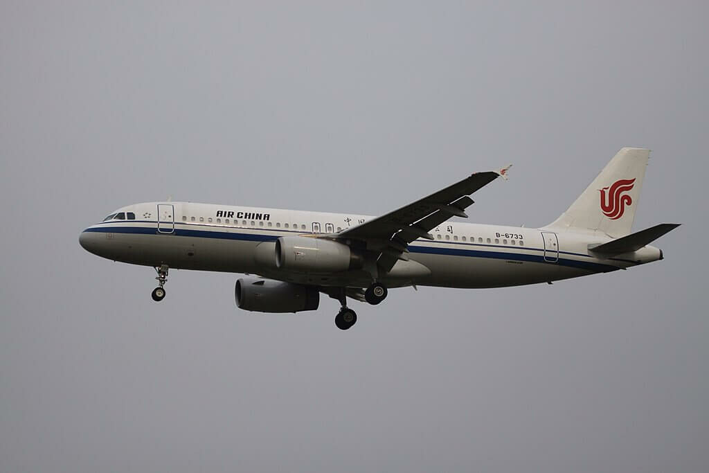 B 6733 Airbus A320 232 Air China at Beijing Capital International Airport