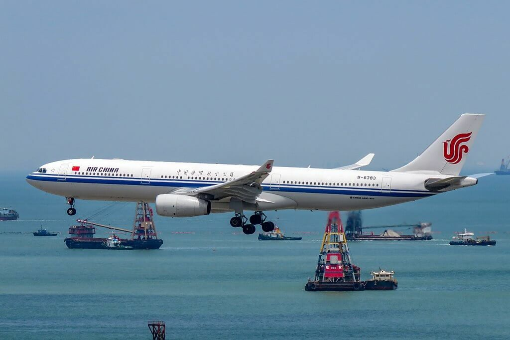 B 8383 Airbus A330 343 Air China at Hong Kong International Airport