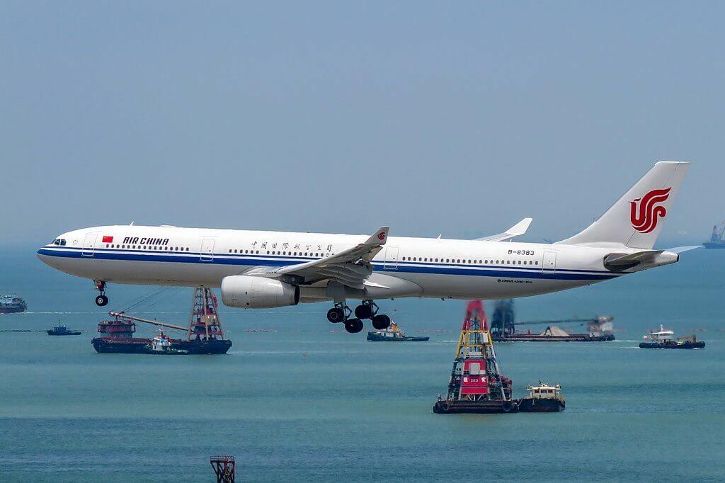 B 8383 Airbus A330 343 Air China at Hong Kong International Airport
