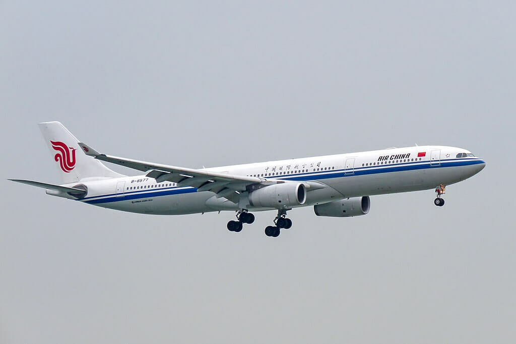 B 8577 Airbus A330 343 Air China at Hong Kong International Airport