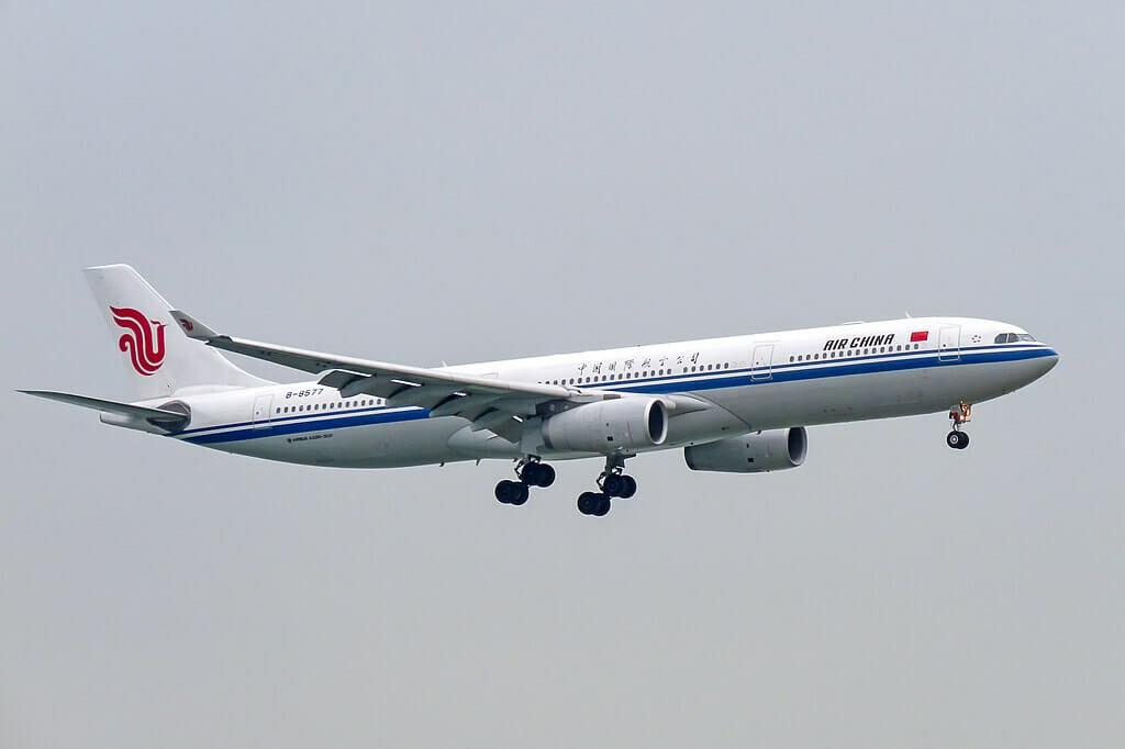 B 8577 Airbus A330 343 Air China at Hong Kong International Airport