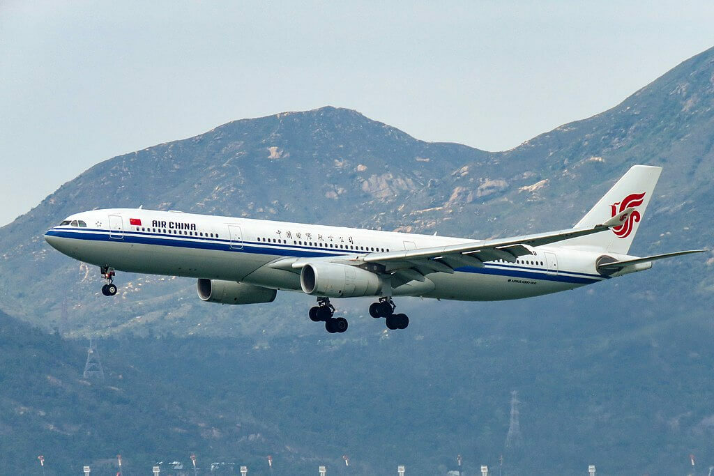 B 8689 Airbus A330 343 Air China at Hong Kong International Airport