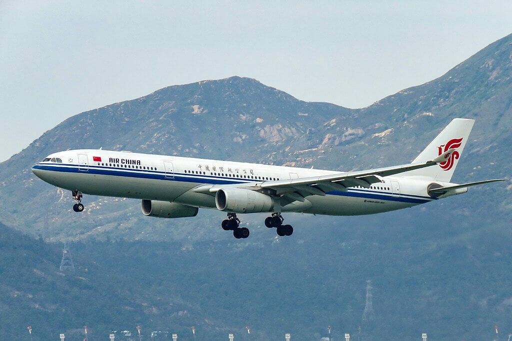 B 8689 Airbus A330 343 Air China at Hong Kong International Airport