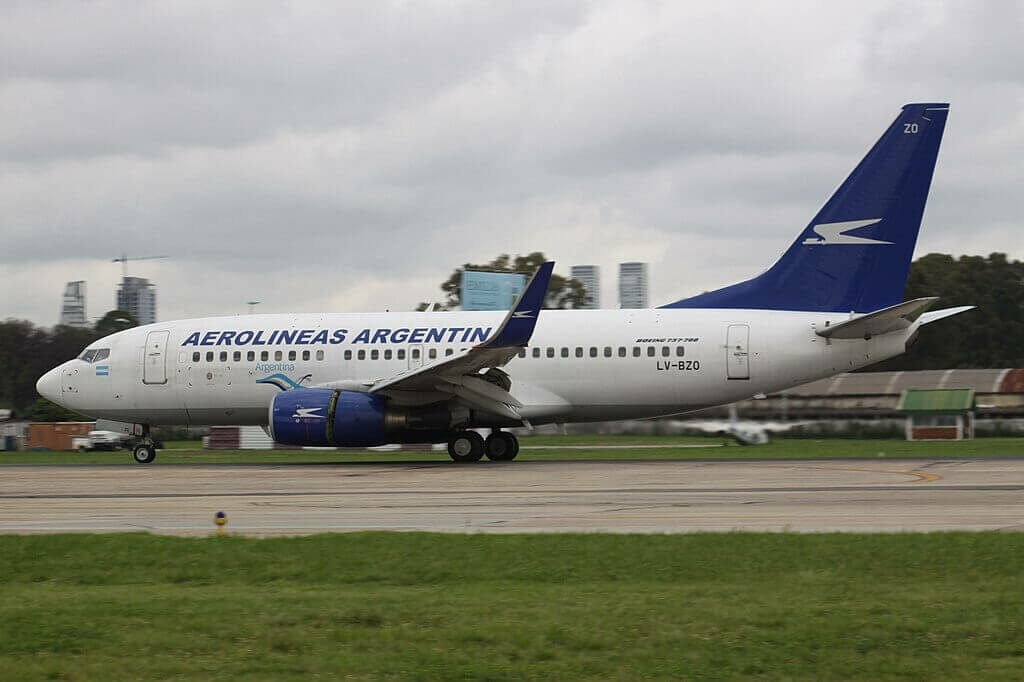 Boeing 737 76NWL LV BZO Aerolíneas Argentinas at Aeroparque Jorge Newbery