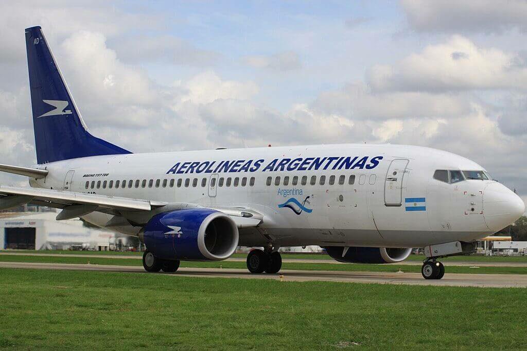 Boeing 737 76NWL LV CAD Aerolíneas Argentinas at Aeroparque Jorge Newbery