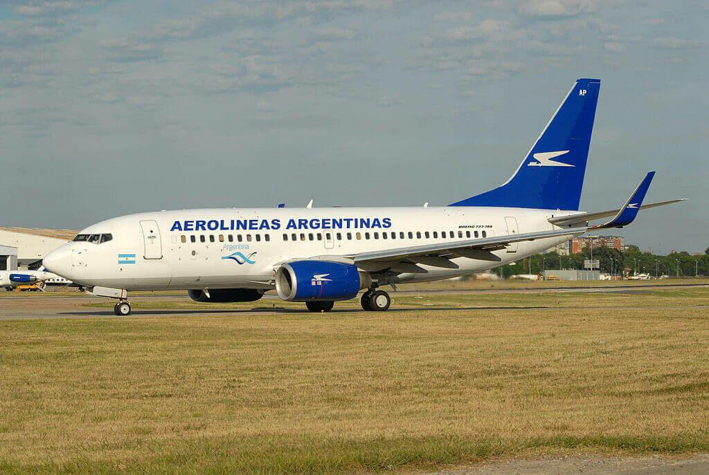 Boeing 737 76NWL LV CAP Aerolíneas Argentinas at Aeroparque Jorge Newbery