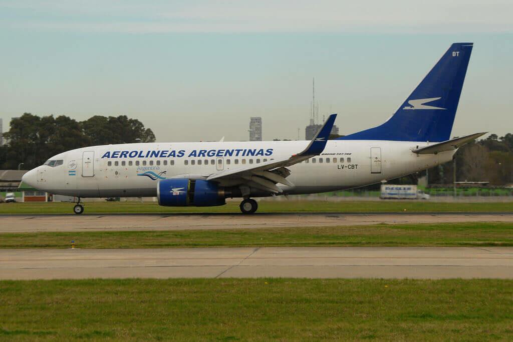 Boeing 737 76NWL LV CBT Aerolíneas Argentinas at Aeroparque Jorge Newbery