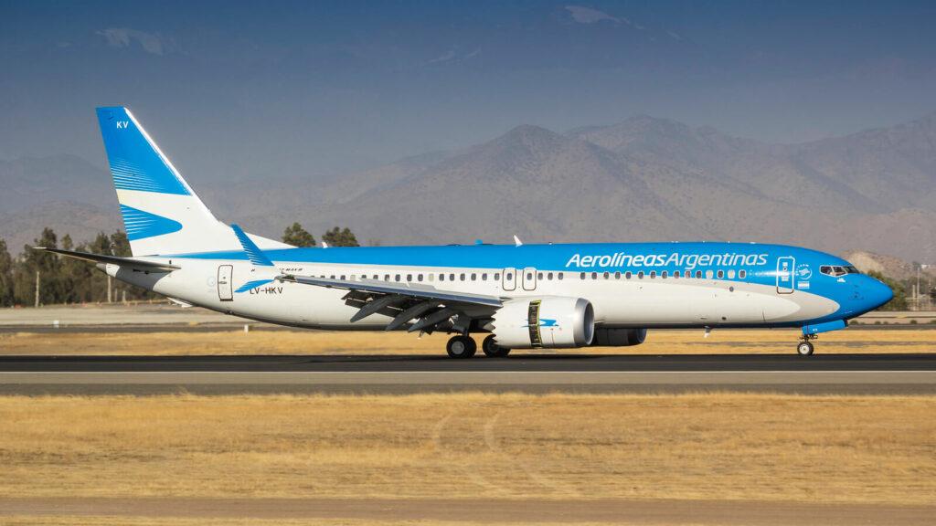 Boeing 737 8 MAX LV HKV Aerolíneas Argentinas