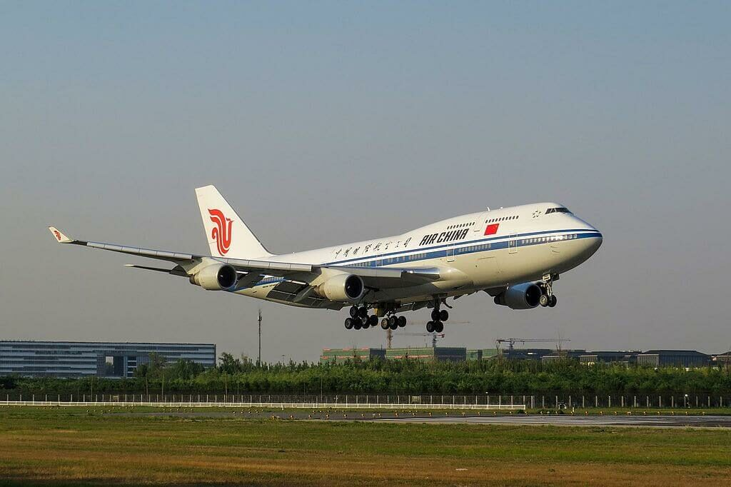 Boeing 747 4J6 B 2445 Air China at Beijing Capital International Airport