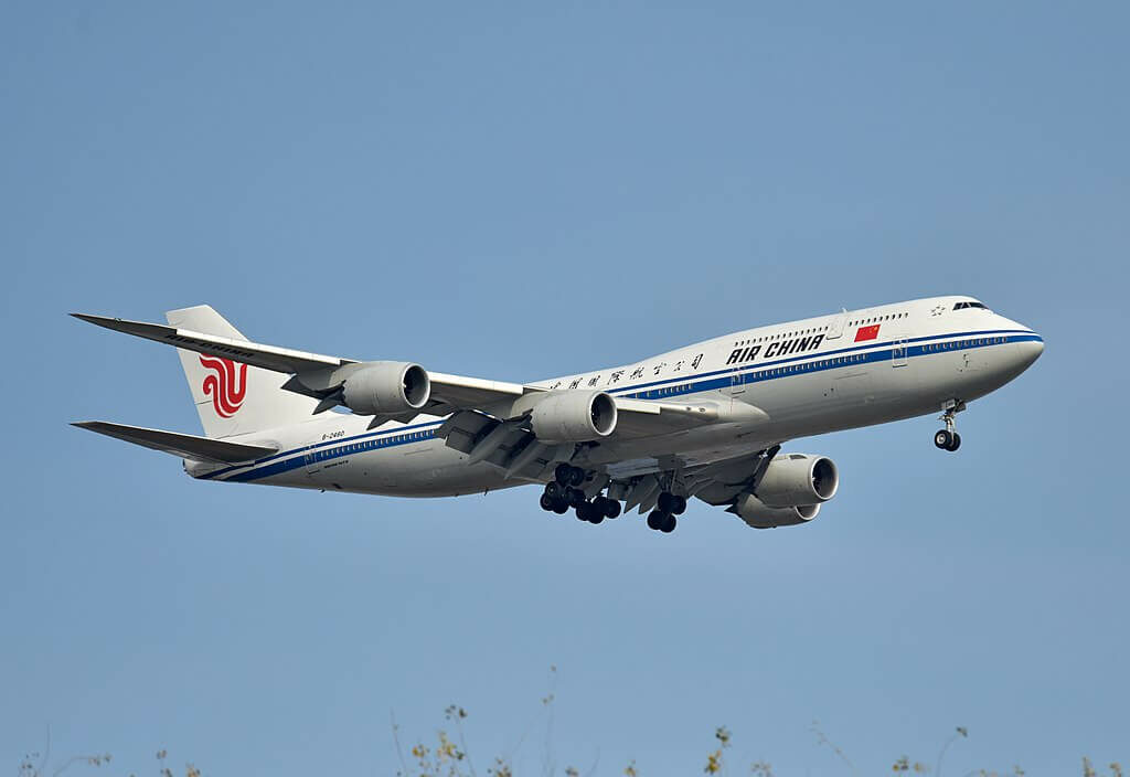 Boeing 747 89L B 2480 Air China at Beijing Capital International Airport