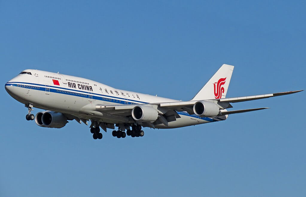 Boeing 747 89L B 2481 Air China at Beijing Capital International Airport