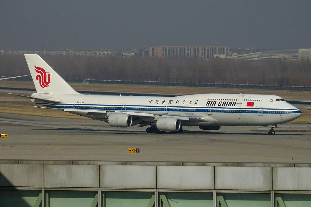Boeing 747 89L B 2485 Air China at Beijing Capital International Airport