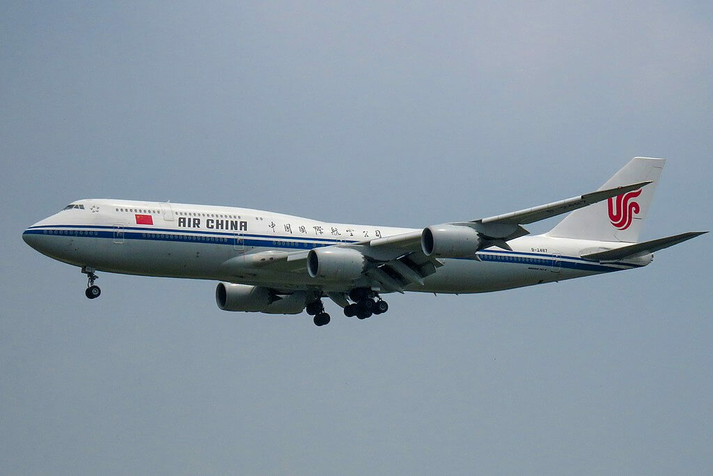 Boeing 747 89L B 2487 Air China at Beijing Capital International Airport