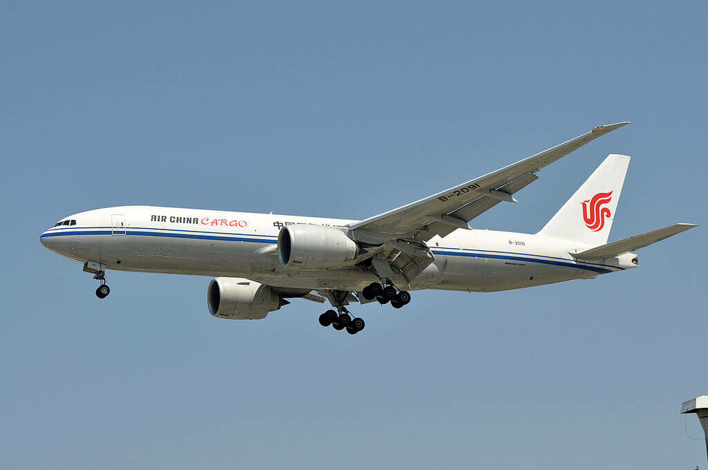 Boeing 777 FFT B 2091 Air China Cargo at Los Angeles International Airport