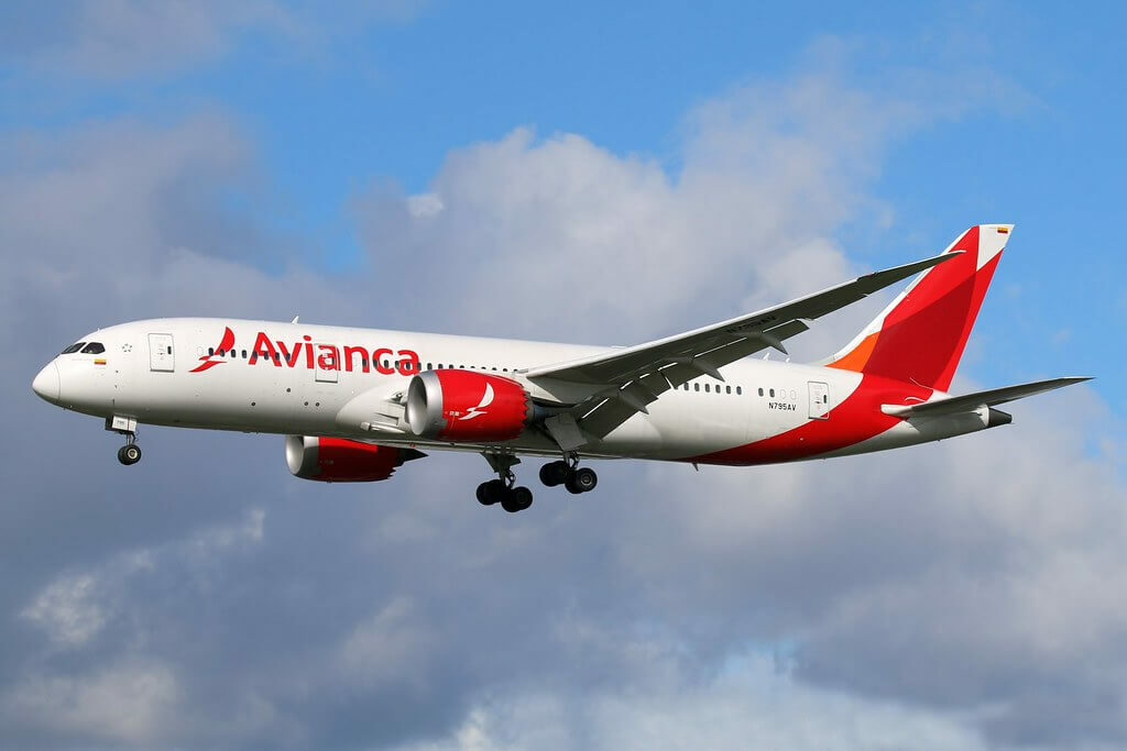 Boeing 787 8 Dreamliner Avianca N795AV at London Heatrow