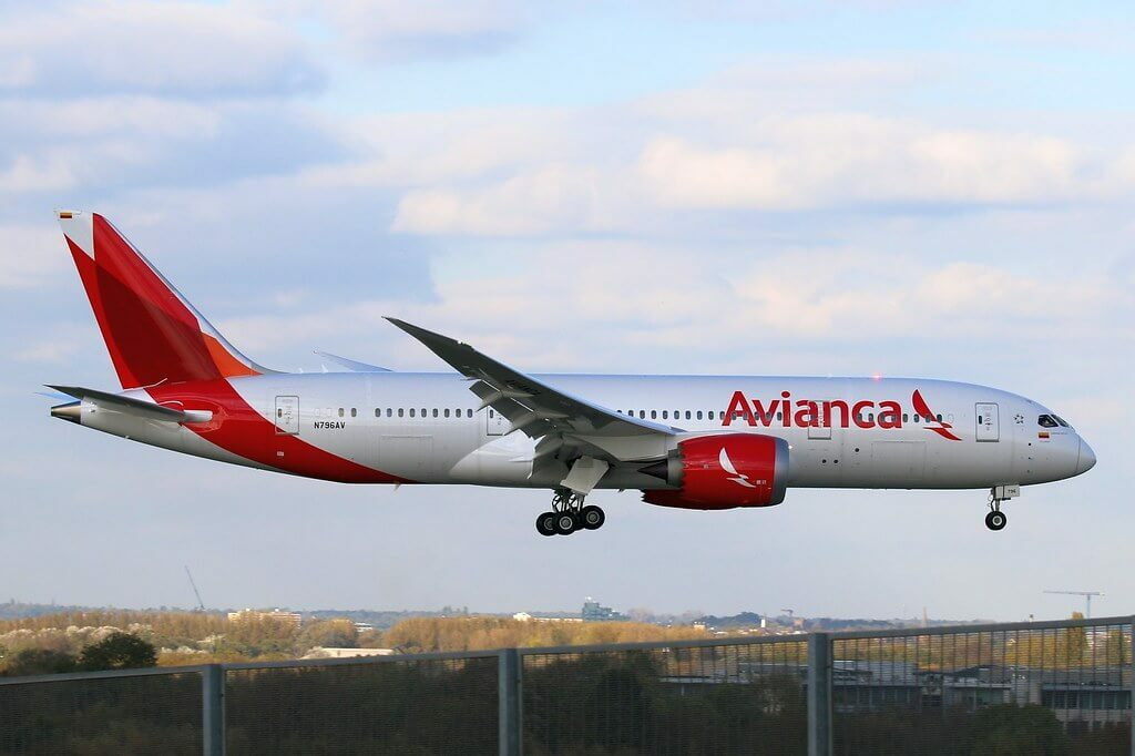 Boeing 787 8 Dreamliner Avianca N796AV at London Heathrow Airport