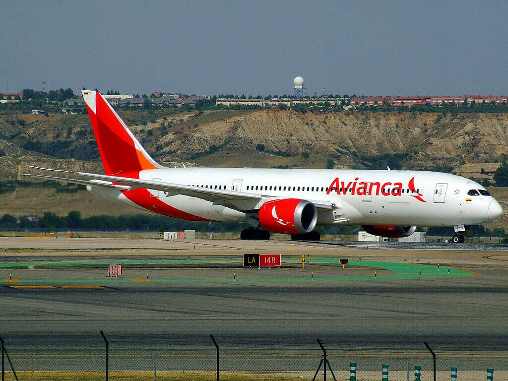 Boeing 787 8 Dreamliner N782AV Avianca at Madrid Barajas Airport