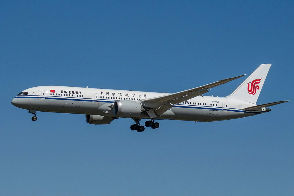 Boeing 787 9 Dreamliner B 1469 Air China at Beijing Capital International Airport