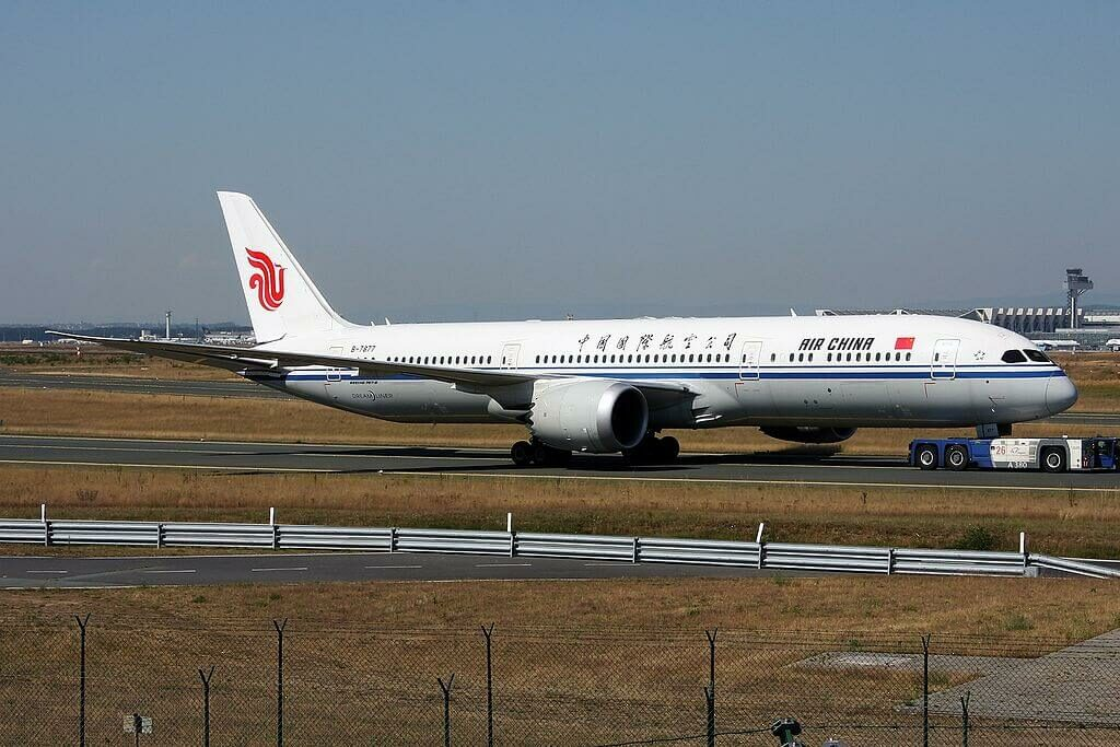 Boeing 787 9 Dreamliner B 7877 Air China at Frankfurt Airport