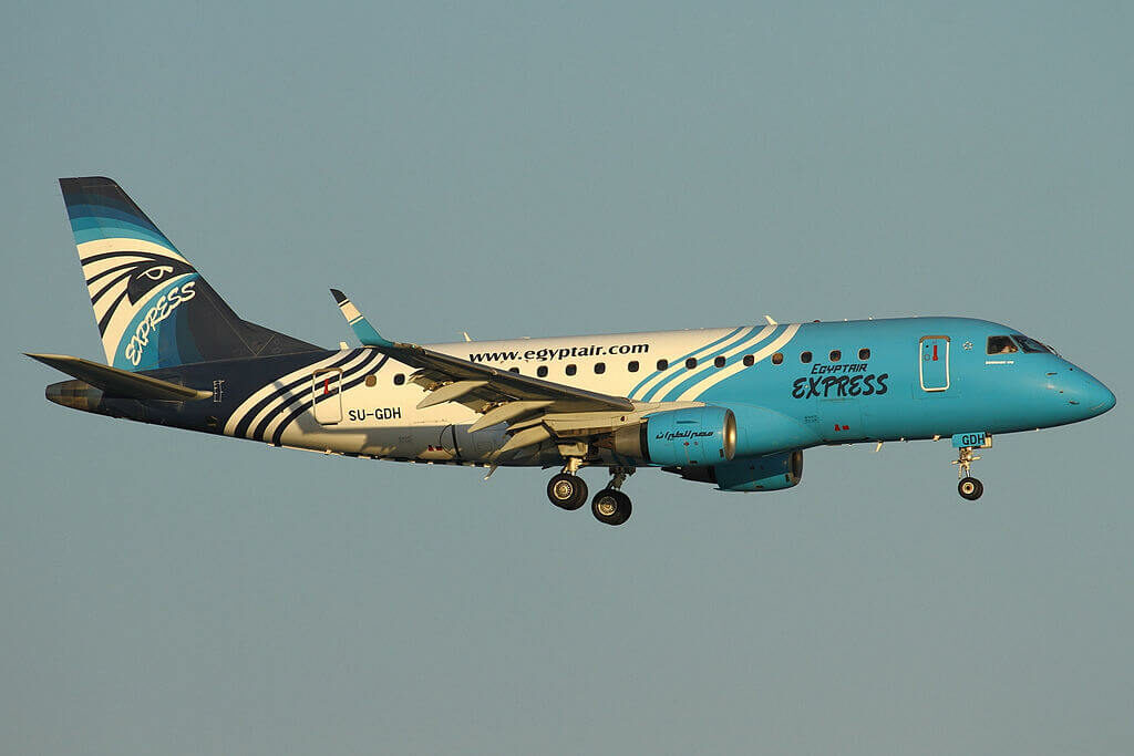 EgyptAir Express SU GDH Embraer ERJ 170LR ERJ 170 100 LR at Larnaca International Airport