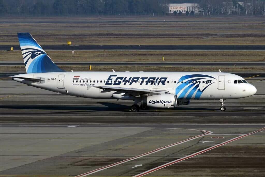 EgyptAir SU GCA Airbus A320 232 at Milan Malpensa Airport