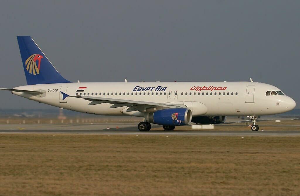 EgyptAir SU GCB Airbus A320 232 at Frankfurt Airport