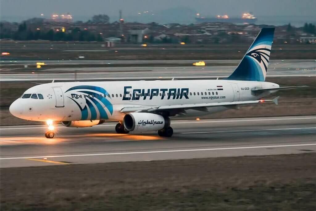 EgyptAir SU GCD Airbus A320 232 at Istanbul Atatürk Airport