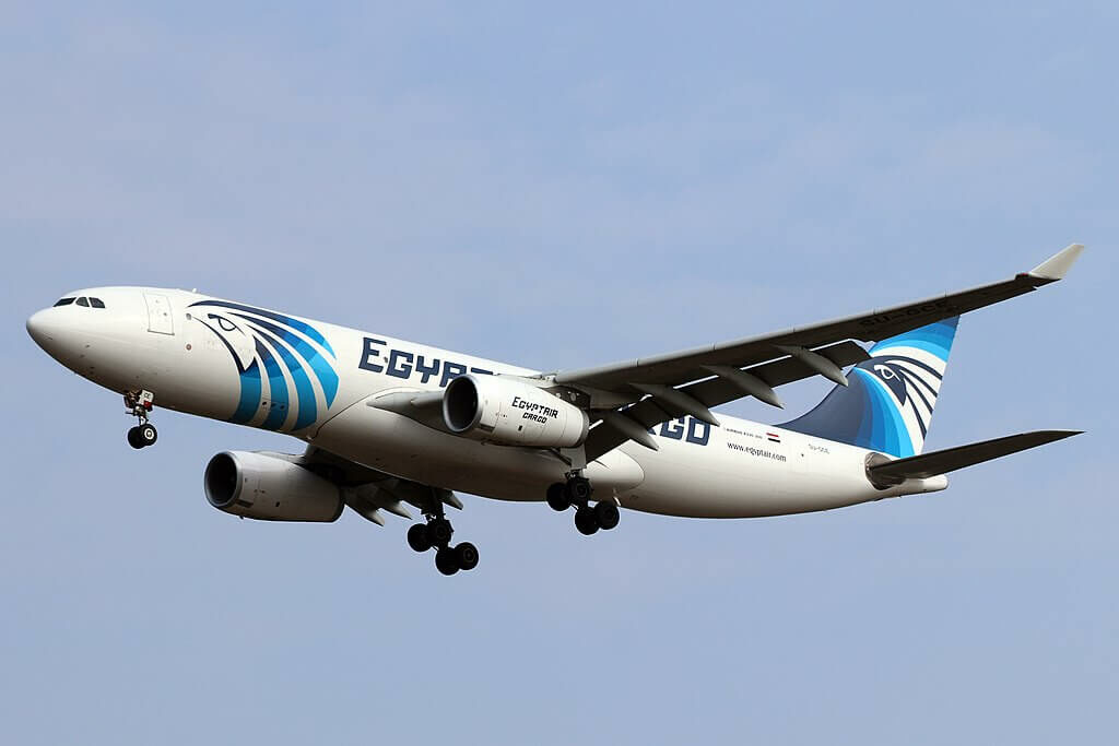 Egyptair Cargo SU GCE Airbus A330 243P2F at Cologne Bonn Airport
