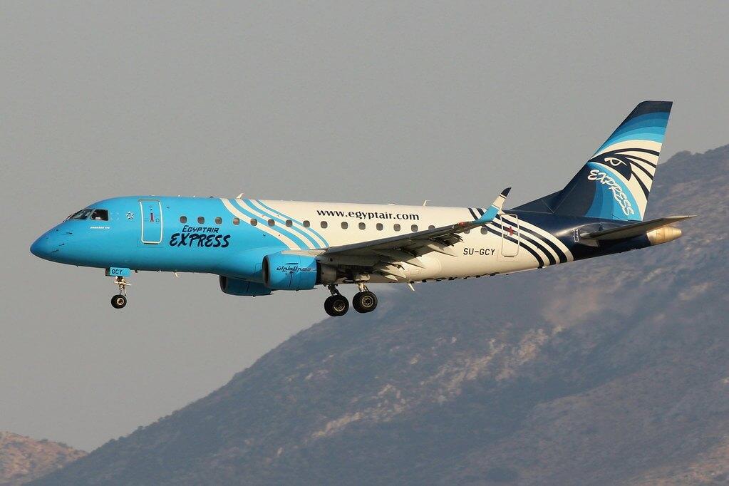 Egyptair Express SU GCY Embraer ERJ 170LR ERJ 170 100 LR at Athens Eleftherios Venizelos