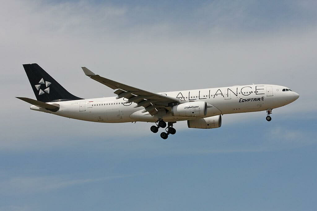Egyptair SU GCK Airbus A330 243 Star Alliance Livery at Frankfurt Airport