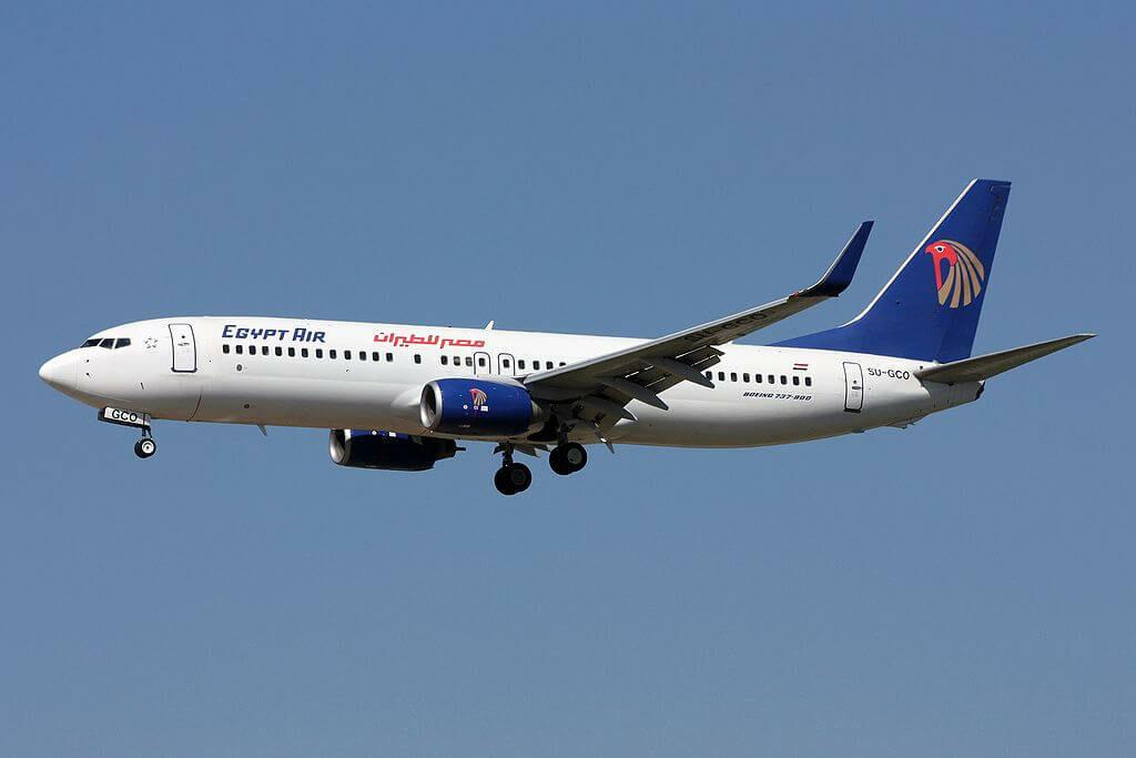 Egyptair SU GCO Boeing 737 866WL at Frankfurt Airport