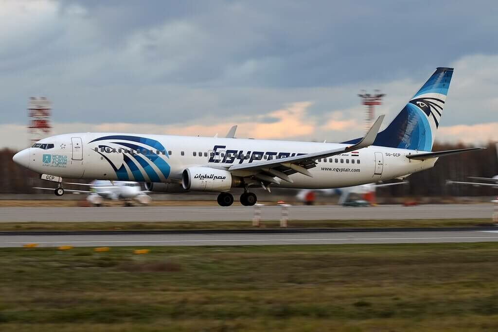 Egyptair SU GCP Boeing 737 866WL at Domodedovo International Airport