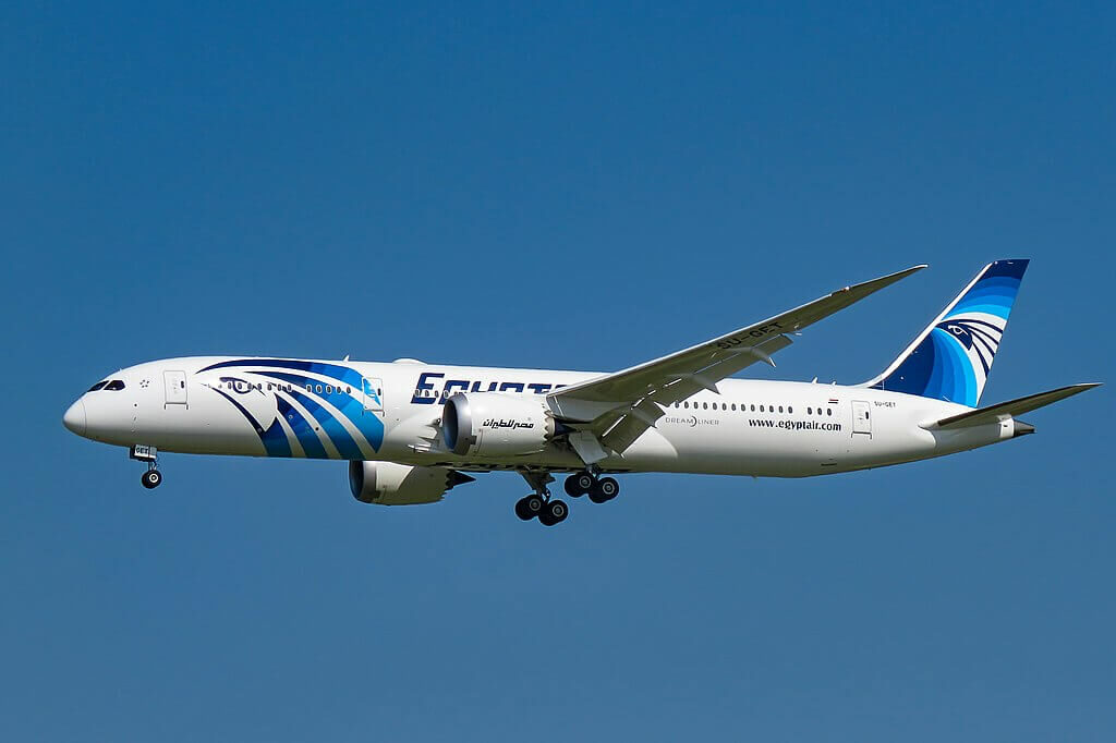 Egyptair SU GET Boeing 787 9 Dreamliner at Beijing Capital International Airport