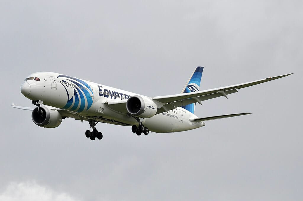 Egyptair SU GEU Boeing 787 9 Dreamliner at Paris Charles de Gaulle Airport